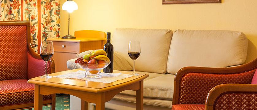 Landhotel St. Georg, Zell am See, Austria - 2 room suite seating area detail.jpg